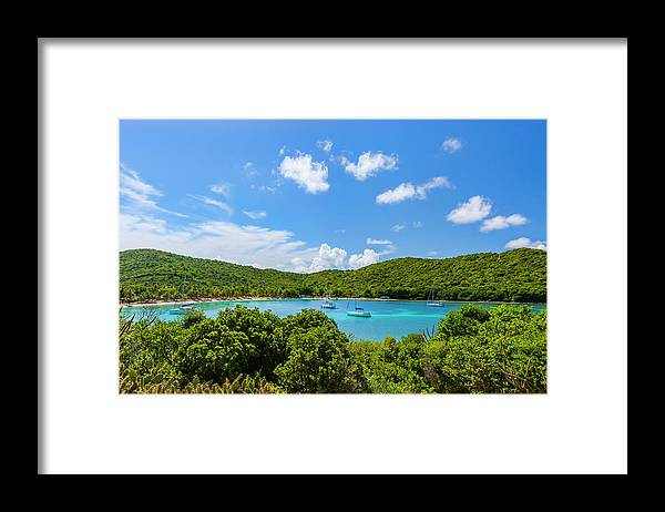 Sailboat Framed Print featuring the photograph Salt Whistle Bay, Mayreau by Argalis