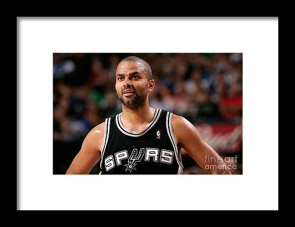 Playoffs Framed Print featuring the photograph San Antonio Spurs V Dallas Mavericks by Glenn James