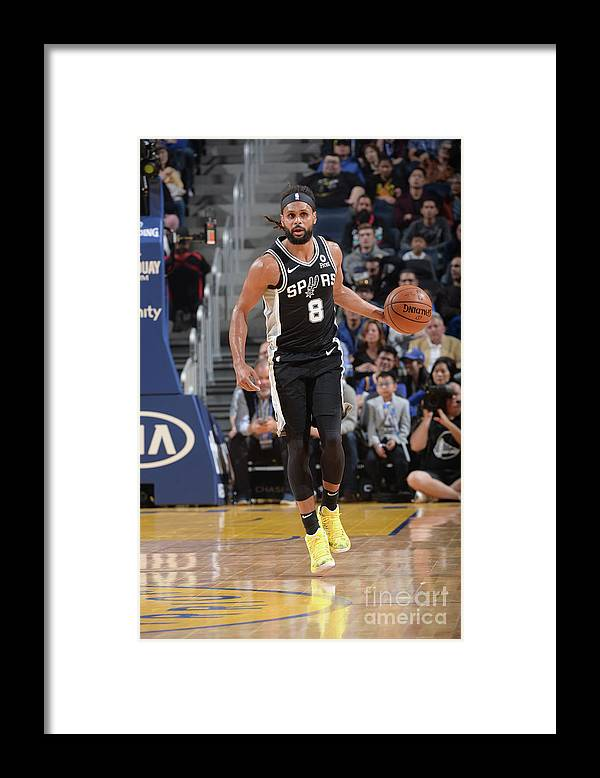 San Francisco Framed Print featuring the photograph San Antonio Spurs V Golden State by Noah Graham