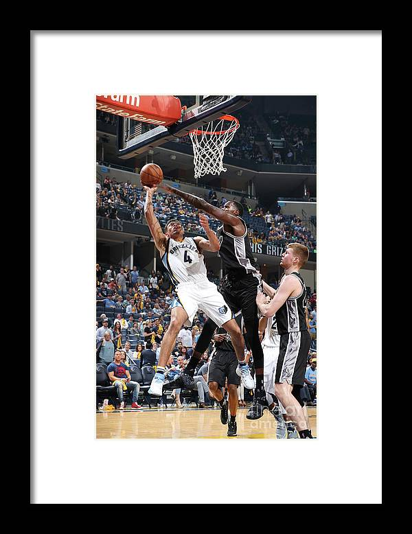 Playoffs Framed Print featuring the photograph San Antonio Spurs V Memphis Grizzlies - by Joe Murphy