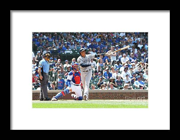 People Framed Print featuring the photograph San Diego Padres V Chicago Cubs 5 by David Banks