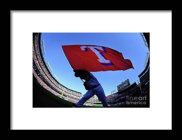 American League Baseball Framed Print featuring the photograph Seattle Mariners V Texas Rangers by Tom Pennington