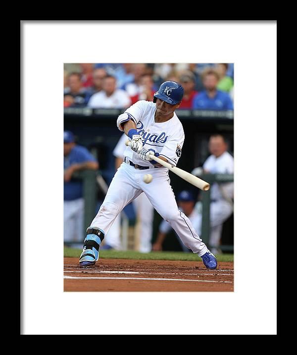 American League Baseball Framed Print featuring the photograph St. Louis Cardinals V Kansas City Royals by Ed Zurga