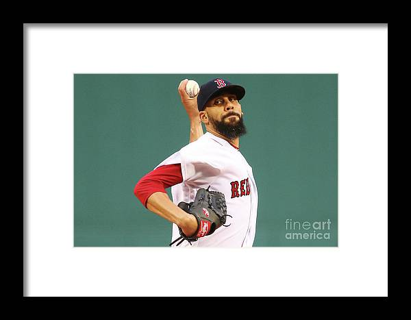 David Price Framed Print featuring the photograph Tampa Bay Rays V Boston Red Sox 5 by Adam Glanzman