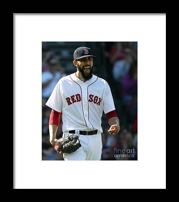 David Price Framed Print featuring the photograph Tampa Bay Rays V Boston Red Sox 5 by Jim Rogash