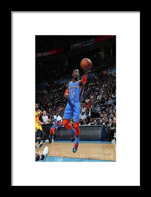 Nba Pro Basketball Framed Print featuring the photograph Utah Jazz V Oklahoma City Thunder by Zach Beeker