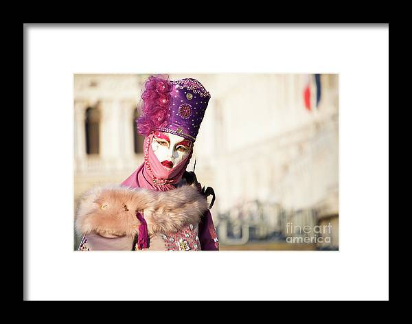 Art Framed Print featuring the photograph Venice Carnival 2019 by Juli Scalzi