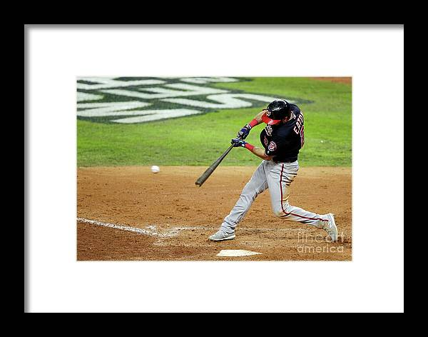 American League Baseball Framed Print featuring the photograph World Series - Washington Nationals V 5 by Bob Levey