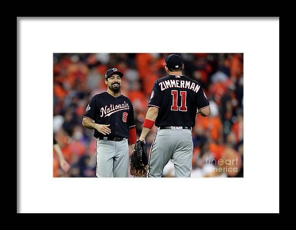 American League Baseball Framed Print featuring the photograph World Series - Washington Nationals V 5 by Elsa