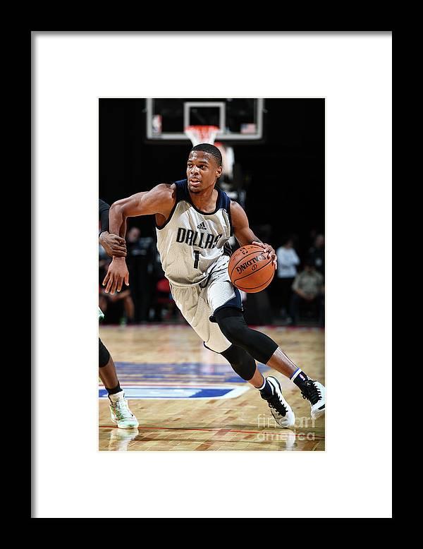 Nba Pro Basketball Framed Print featuring the photograph 2017 Las Vegas Summer League - Boston by Garrett Ellwood