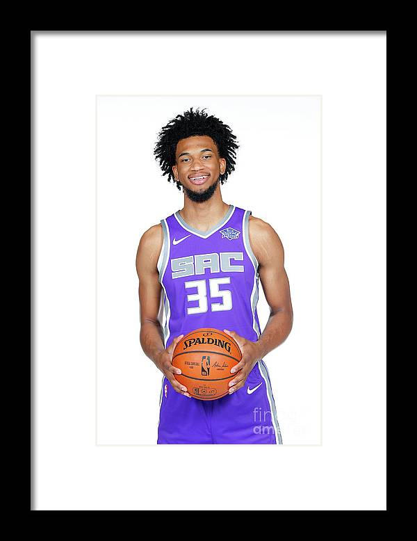 Media Day Framed Print featuring the photograph 2018-19 Sacramento Kings Media Day by Rocky Widner