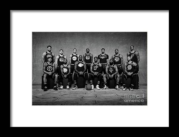 Nba Pro Basketball Framed Print featuring the photograph 2019 Nba All Star Portraits by Jesse D. Garrabrant