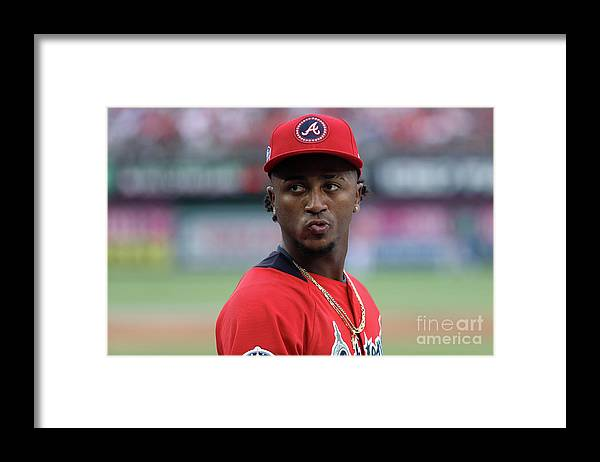 Looking Over Shoulder Framed Print featuring the photograph 89th Mlb All-star Game, Presented By by Patrick Smith