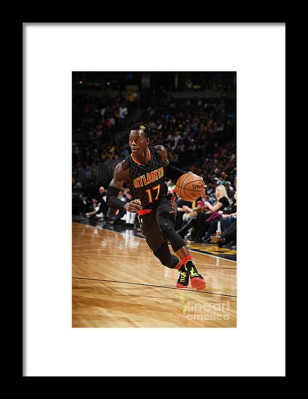 Nba Pro Basketball Framed Print featuring the photograph Atlanta Hawks V Denver Nuggets by Garrett Ellwood