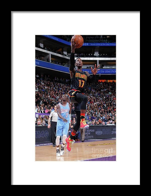 Nba Pro Basketball Framed Print featuring the photograph Atlanta Hawks V Sacramento Kings by Rocky Widner
