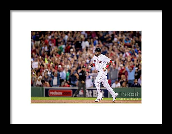 People Framed Print featuring the photograph Baltimore Orioles V Boston Red Sox 6 by Billie Weiss/boston Red Sox