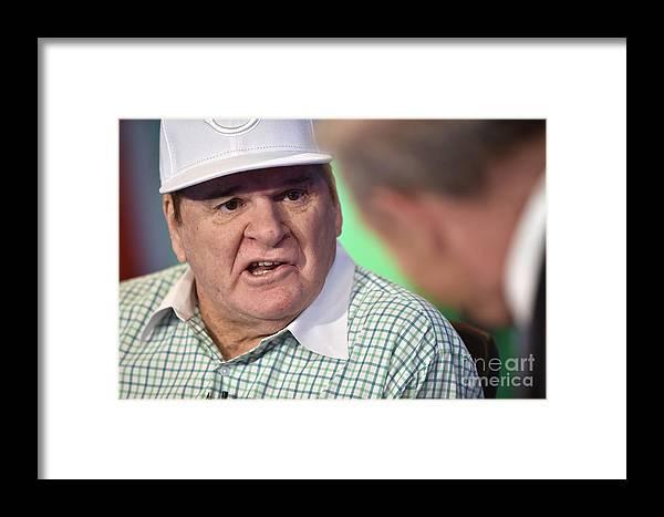 People Framed Print featuring the photograph Baseball Legend Pete Rose Visits Stuart by Steven Ferdman
