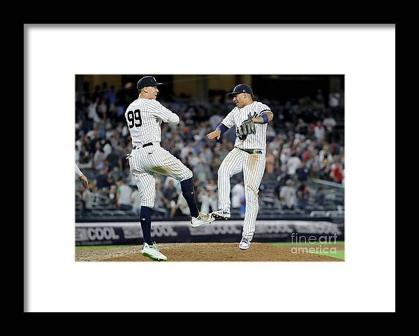 People Framed Print featuring the photograph Boston Red Sox V New York Yankees - 6 by Elsa