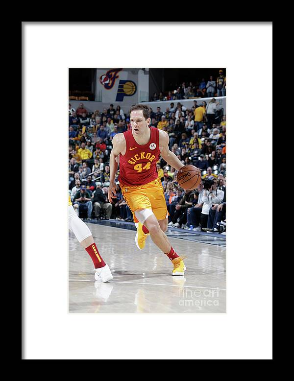 Nba Pro Basketball Framed Print featuring the photograph Brooklyn Nets V Indiana Pacers by Ron Hoskins