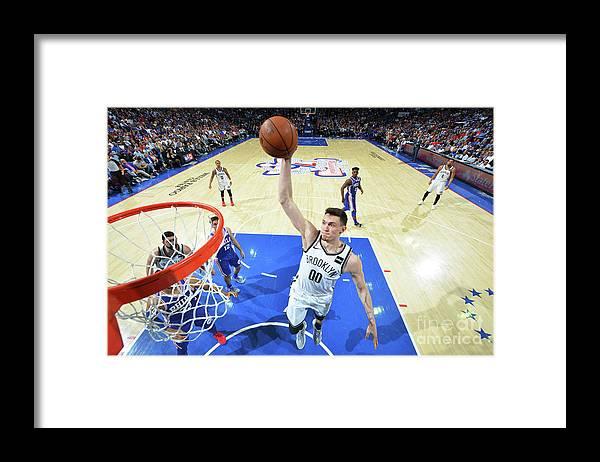 Playoffs Framed Print featuring the photograph Brooklyn Nets V Philadelphia 76ers - by Jesse D. Garrabrant