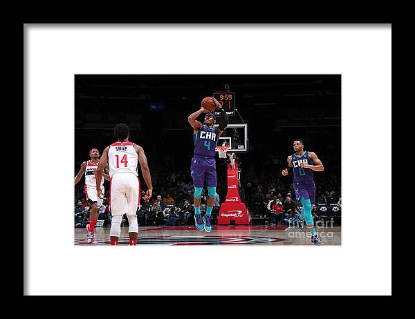Nba Pro Basketball Framed Print featuring the photograph Charlotte Hornets V Washington Wizards by Ned Dishman