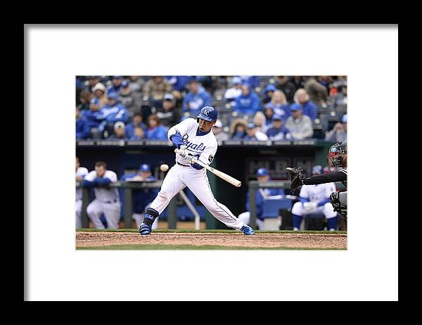 American League Baseball Framed Print featuring the photograph Chicago White Sox V. Kansas City Royals by John Williamson