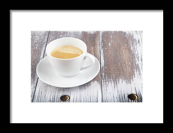 Cappuccino Framed Print featuring the photograph Coffee by Focusstock