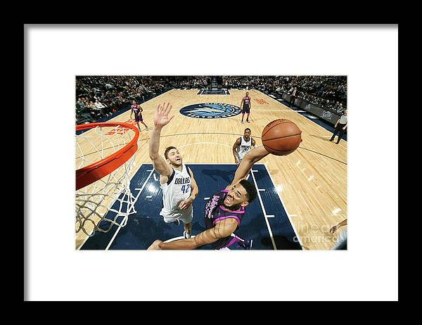 Nba Pro Basketball Framed Print featuring the photograph Dallas Mavericks V Minnesota by David Sherman