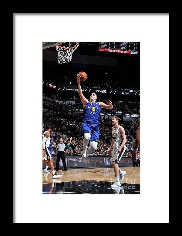 Playoffs Framed Print featuring the photograph Denver Nuggets V San Antonio Spurs - by Mark Sobhani