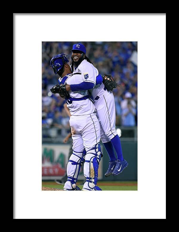 Salvador Perez Diaz Framed Print featuring the photograph Detroit Tigers V Kansas City Royals 6 by Ed Zurga