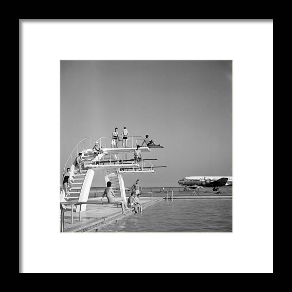 People Framed Print featuring the photograph Ezeiza Airport, Argentina by Michael Ochs Archives