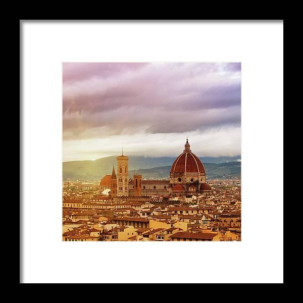 Palazzo Vecchio Framed Print featuring the photograph Florence, Santa Maria Del Fiore by Deimagine