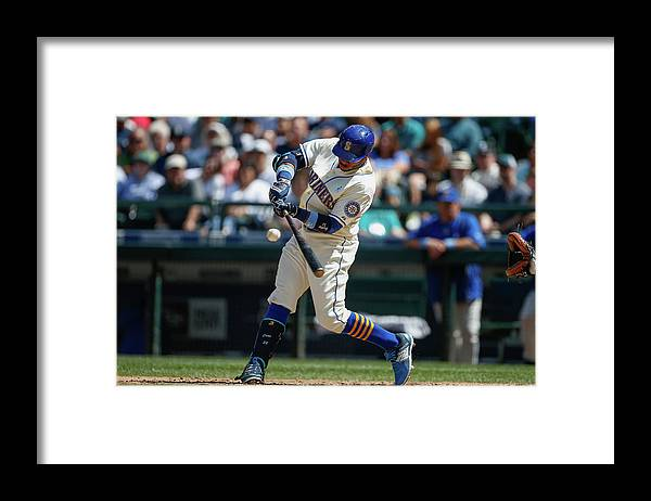 People Framed Print featuring the photograph Houston Astros V Seattle Mariners by Otto Greule Jr