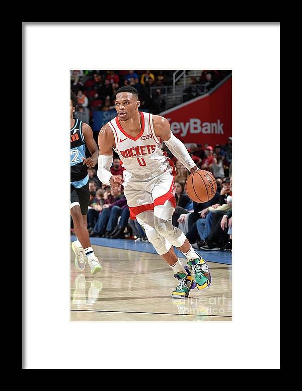 Nba Pro Basketball Framed Print featuring the photograph Houston Rockets V Cleveland Cavaliers by David Liam Kyle
