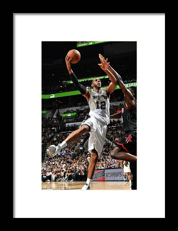 Playoffs Framed Print featuring the photograph Houston Rockets V San Antonio Spurs - by Jesse D. Garrabrant