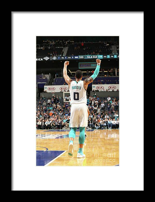 Nba Pro Basketball Framed Print featuring the photograph Indiana Pacers V Charlotte Hornets by Kent Smith