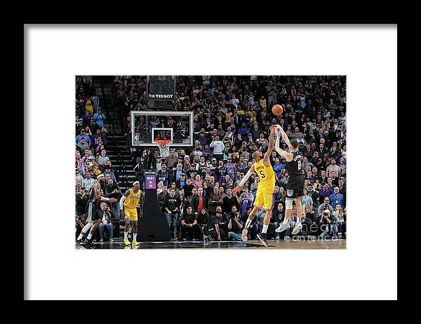 Nba Pro Basketball Framed Print featuring the photograph Los Angeles Lakers V Sacramento Kings by Rocky Widner