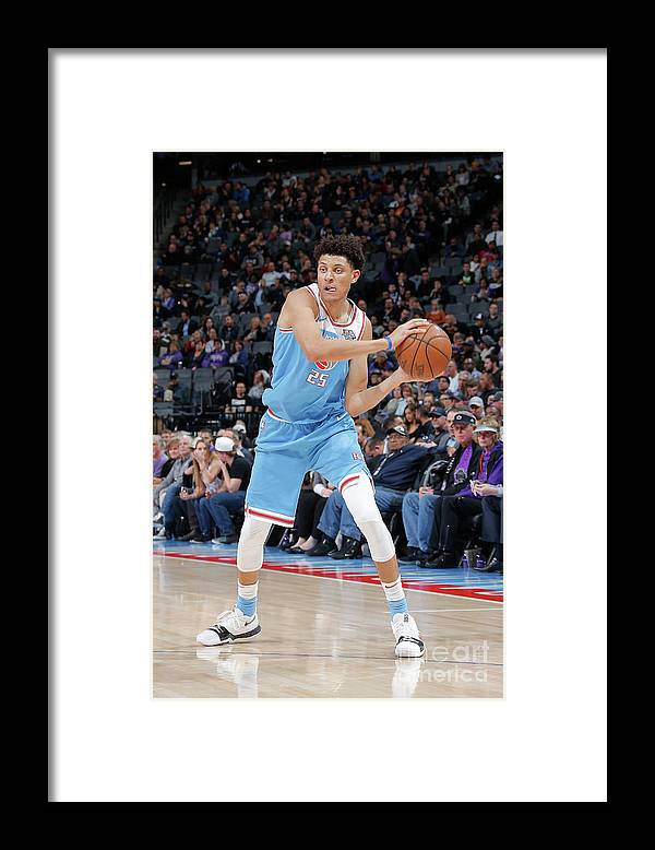 Nba Pro Basketball Framed Print featuring the photograph Minnesota Timberwolves V Sacramento by Rocky Widner