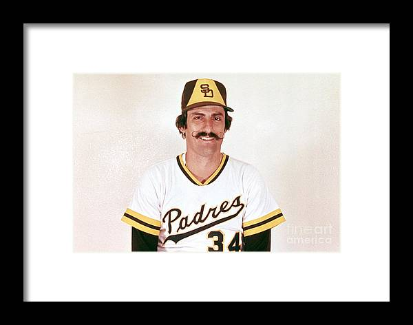 Rollie Fingers Framed Print featuring the photograph Mlb Photos Archive 6 by Mlb Photos