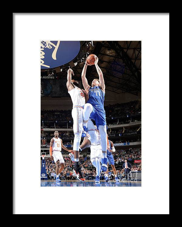Nba Pro Basketball Framed Print featuring the photograph New York Knicks V Dallas Mavericks by Glenn James