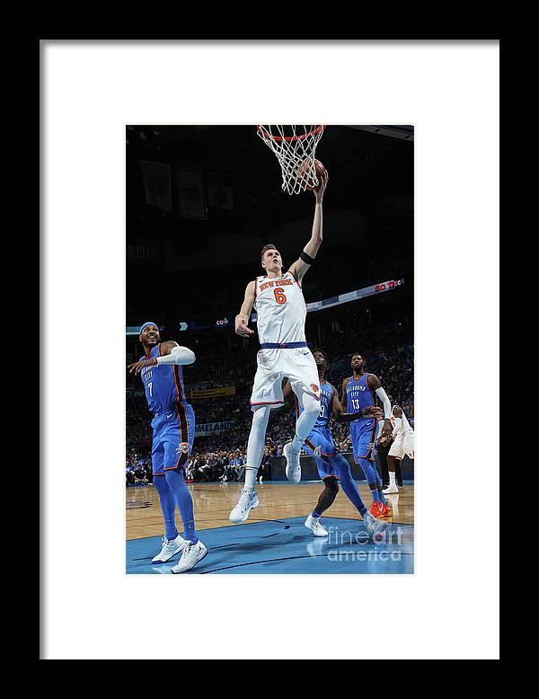 Nba Pro Basketball Framed Print featuring the photograph New York Knicks V Oklahoma City Thunder by Layne Murdoch