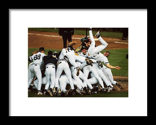 American League Baseball Framed Print featuring the photograph New York Yankees by Ronald C. Modra/sports Imagery