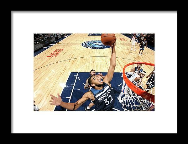Nba Pro Basketball Framed Print featuring the photograph Oklahoma City Thunder V Minnesota by David Sherman