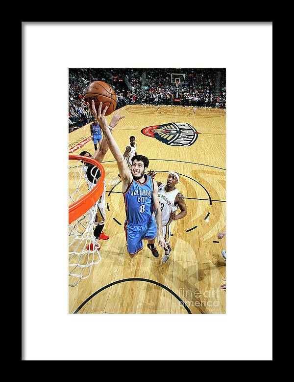 Smoothie King Center Framed Print featuring the photograph Oklahoma City Thunder V New Orleans by Layne Murdoch