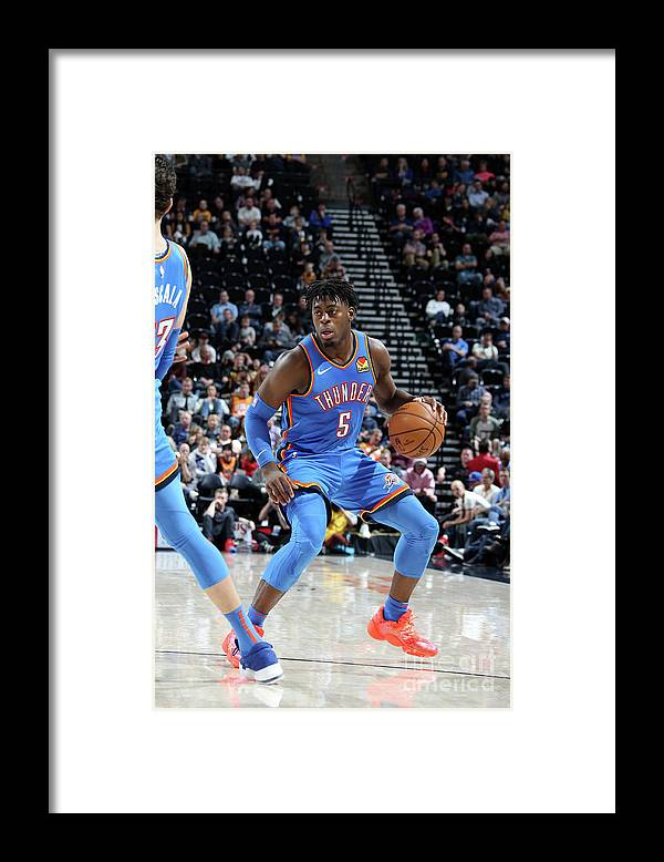 Nba Pro Basketball Framed Print featuring the photograph Oklahoma City Thunder V Utah Jazz by Melissa Majchrzak