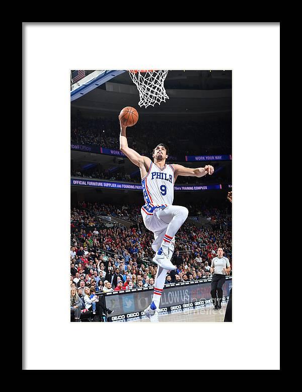 Nba Pro Basketball Framed Print featuring the photograph Philadelphia 76ers V Boston Celtics by Jesse D. Garrabrant