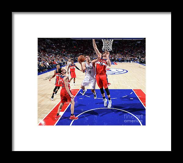 Nba Pro Basketball Framed Print featuring the photograph Philadelphia 76ers V Washington Wizards by Jesse D. Garrabrant