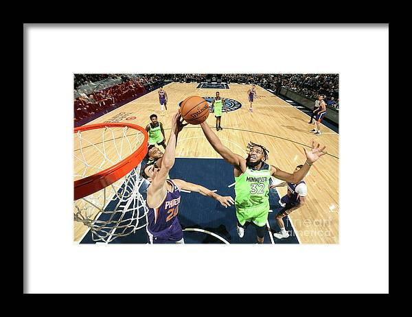 Nba Pro Basketball Framed Print featuring the photograph Phoenix Suns V Minnesota Timberwolves by David Sherman