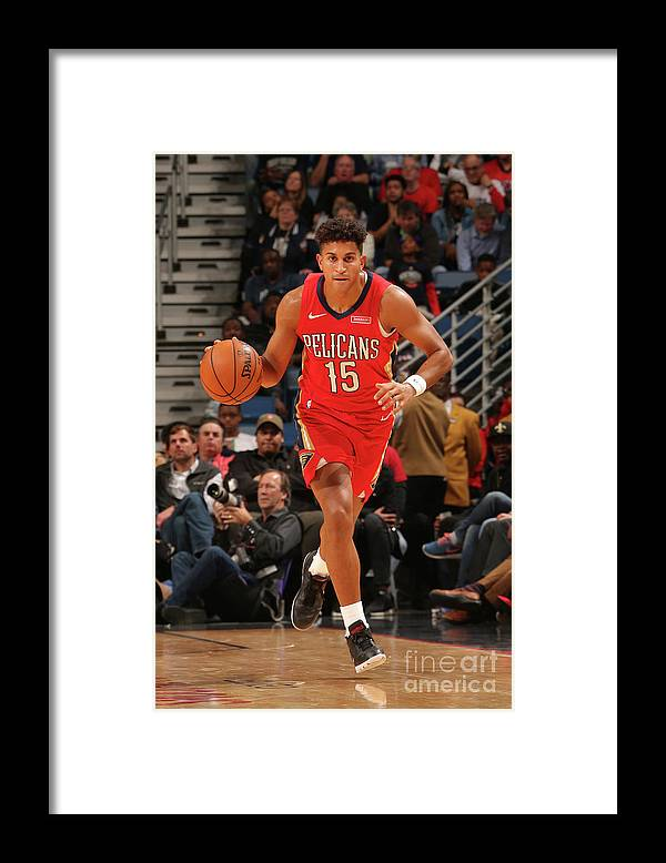 Smoothie King Center Framed Print featuring the photograph Portland Trail Blazers V New Orleans by Layne Murdoch Jr.