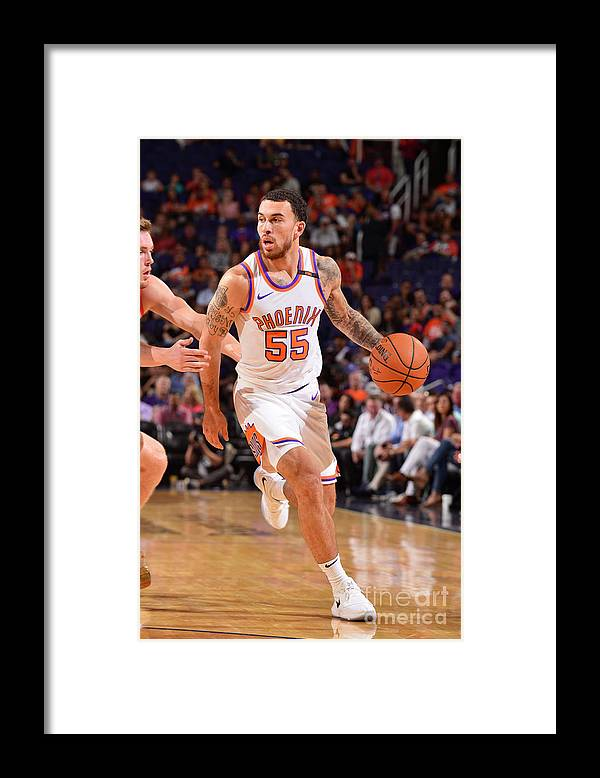 Nba Pro Basketball Framed Print featuring the photograph Portland Trail Blazers V Phoenix Suns by Barry Gossage